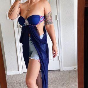 Blue Bathing Suit Top/Dress